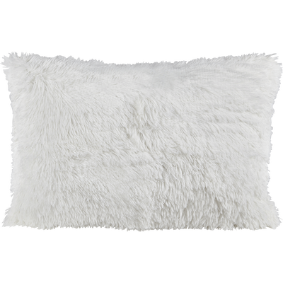 Housse de coussin à poils longs blancs 40x60cm-ELEC
