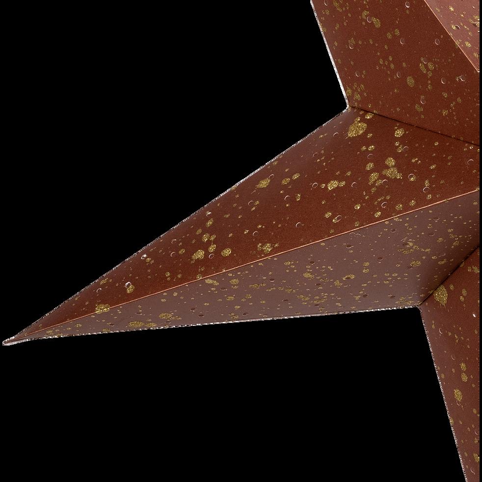 etoile en papier à suspendre couleur rouille h25cm-JOUCAS