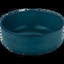 Assiette creuse en faïence bleu figuerolles D16cm-LANKA