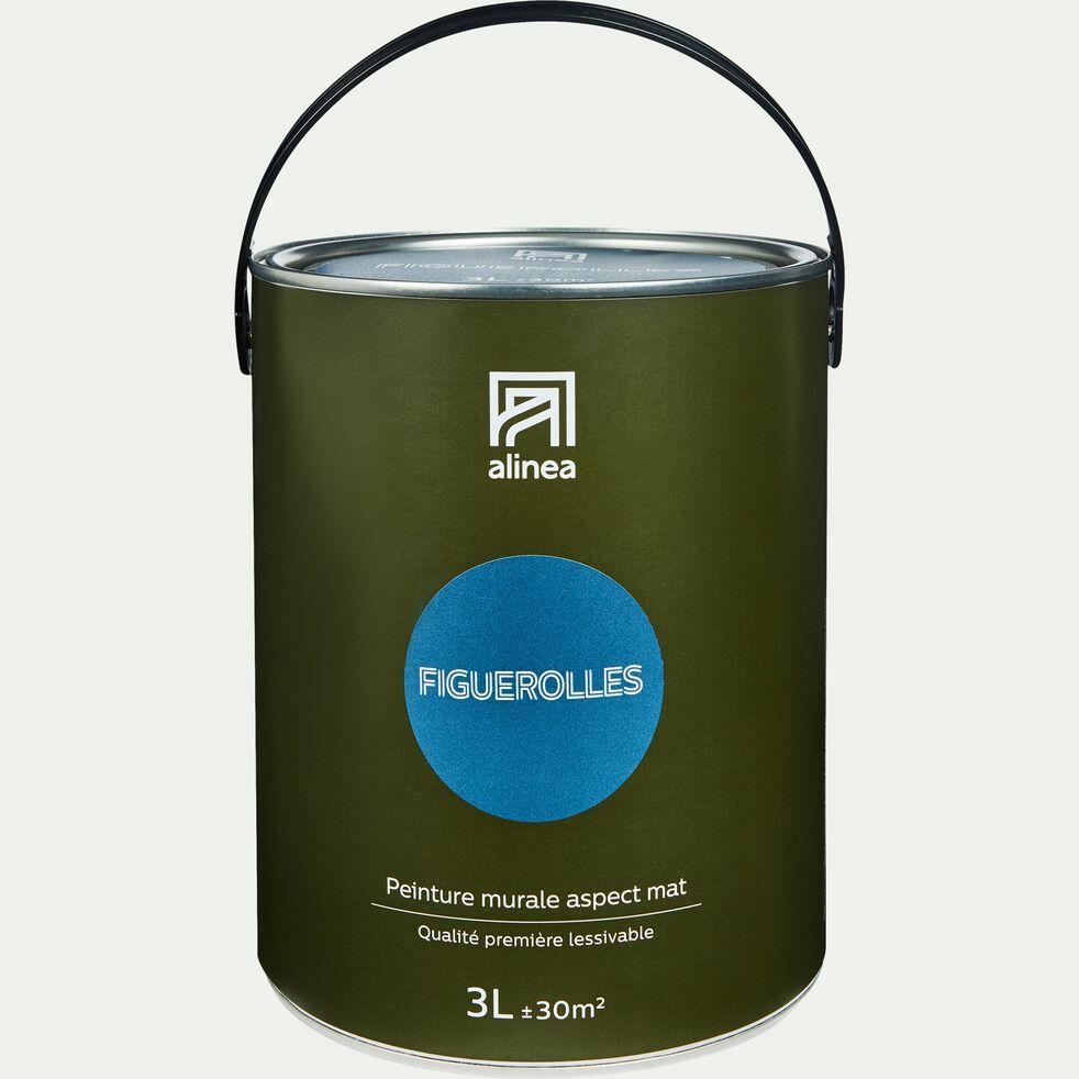 Peinture acrylique mate multi-supports - bleu figuerolles 3L-PEINTURE