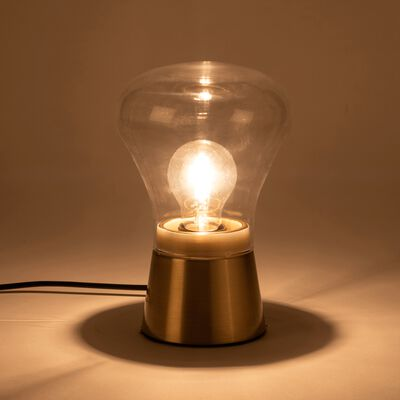 Lampe à poser tactile en laiton brossé - doré H21,5cm-LEV