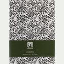 Carnet format A5 motif jasmin - noir et blanc-Jasmin