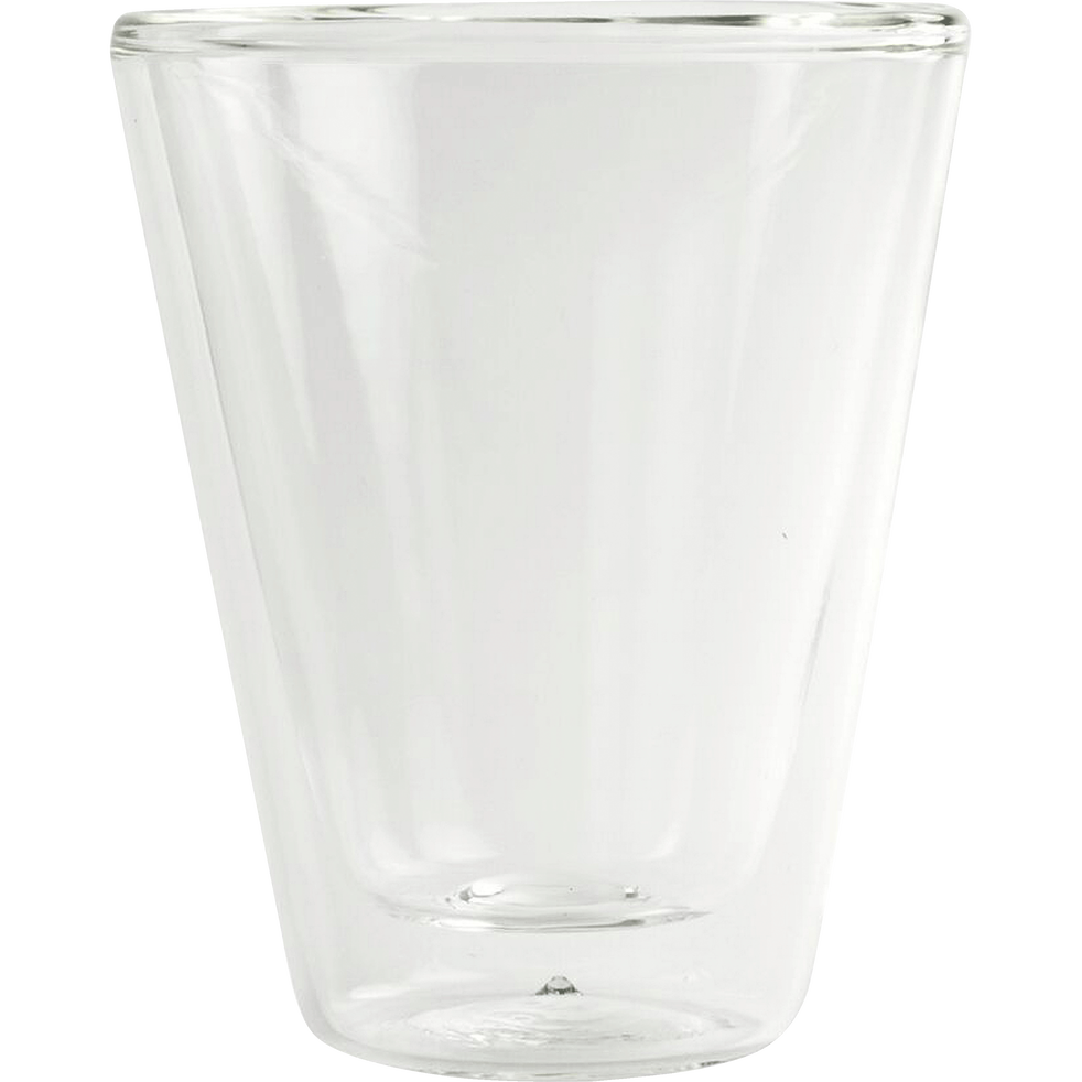 Lot de 2 tasses en verre transparent 8,5cl-THERMIC