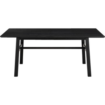 Table de repas rectangulaire plaquée chêne - 6 à 8 places-RIZE