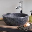 Vasque de salle de bains ronde en pierre reconstituée-Terrazo