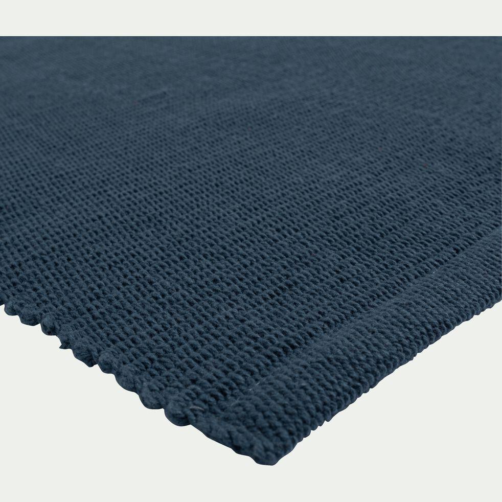 Descente de lit en coton - bleu figuerolles 60x120cm-CAMELIA