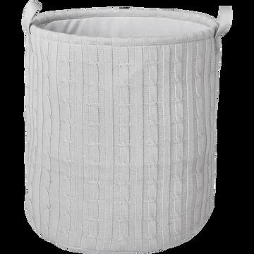 Panier à linge gris borie H50cm-RAMOUN
