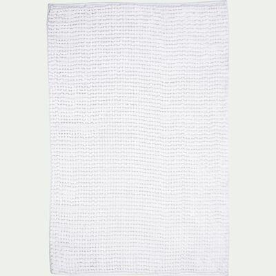 Tapis de bain rectangulaire antidérapant - l50xL80cm blanc ventoux-Picus