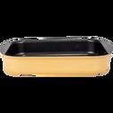 Plat à four rectangulaire en aluminium beige nefle 20x25cm-PINTO