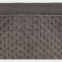 Drap de bain bouclette en coton - gris restanque 100x150cm-ETEL