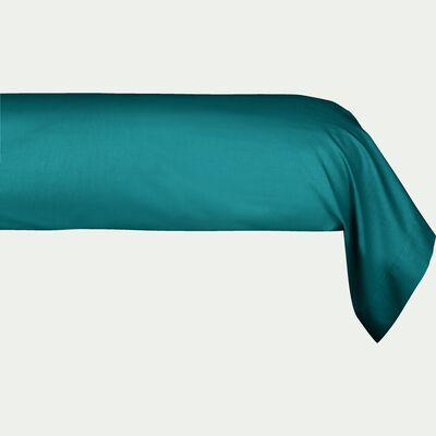 Taie de traversin en coton - bleu niolon 43x190cm-CALANQUES