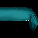 Taie de traversin en coton Bleu niolon 43x190cm-CALANQUES