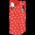 Panier de rangement pliable rouge à motifs rouge-GWEN