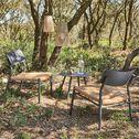 Set de jardin en acier - noir (2 places)-INCA