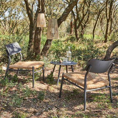 Set de jardin en acier - gris anthracite (2 places)-INCA