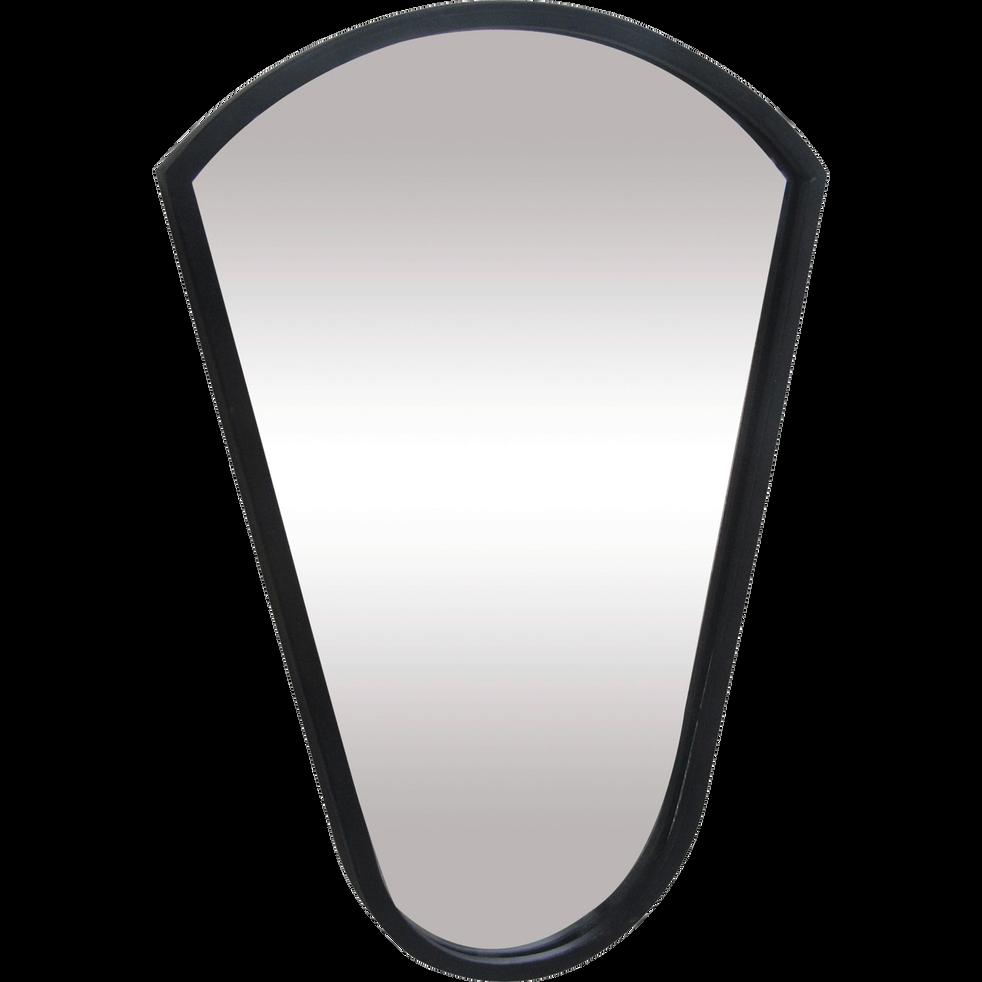 Miroir en métal en forme de blason H40cm-YALA
