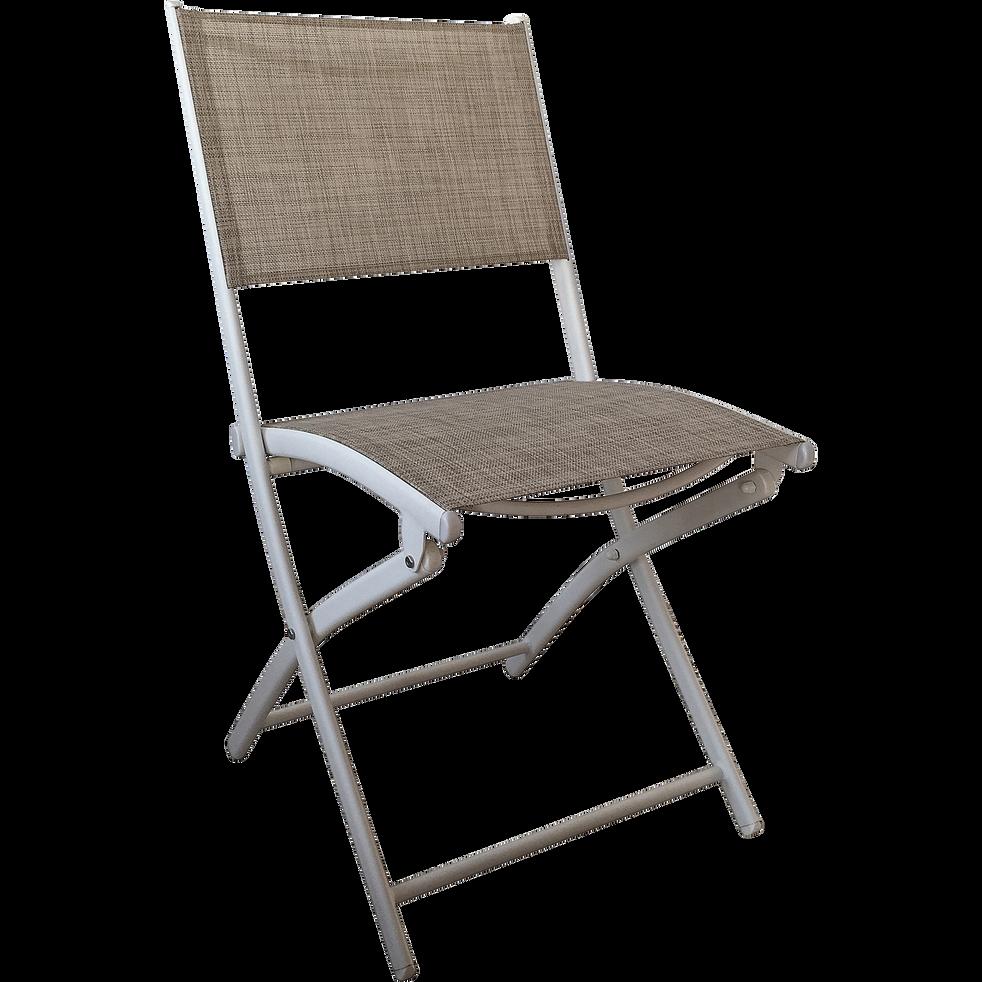 chaise de jardin pliante gris clair en polyester lemon catalogue storefront alin a alinea. Black Bedroom Furniture Sets. Home Design Ideas