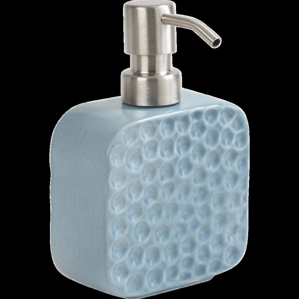 Distributeur de savon bleu effet martelé-MARTELY