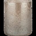 Photophore en verre marron D6,5xH8 cm-PICHOTO