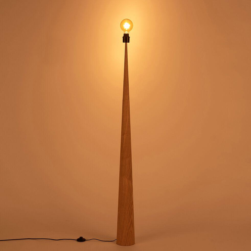 Lampadaire en bois - H157 chêne-KONE