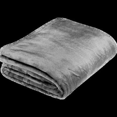 Plaid doux gris restanque 180x220cm-ROBIN