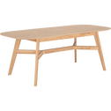 Table de repas extensible plaqué chêne - 6 à 8 places-PALERME