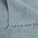 Plaid en coton bleu 130x170cm-CALANQUES