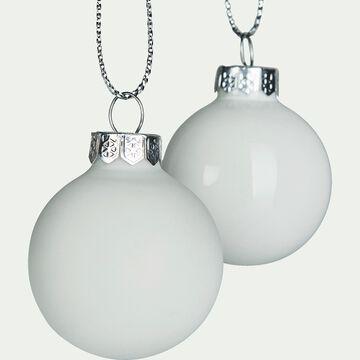 Lot de 16 boules en verre blanches D3,5cm-klober