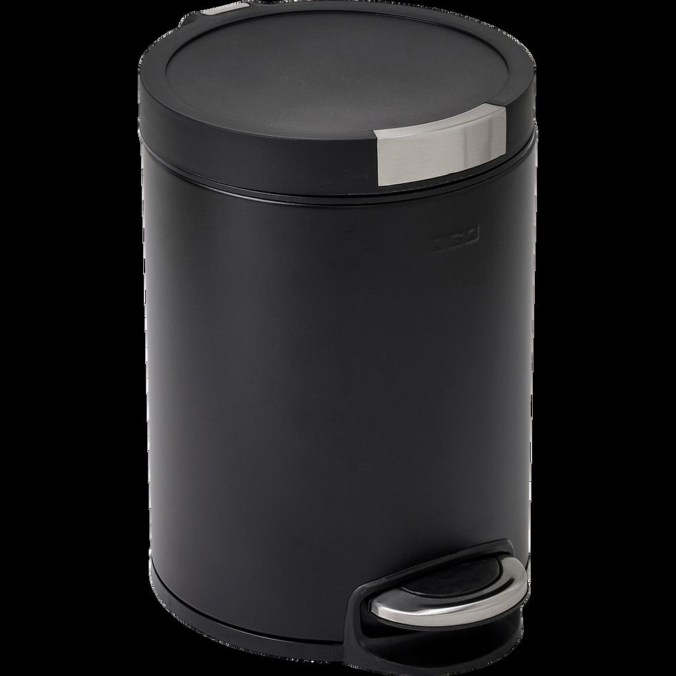 Poubelles Noires De Jardin fanal - poubelle à pédale en inox - noir 12l