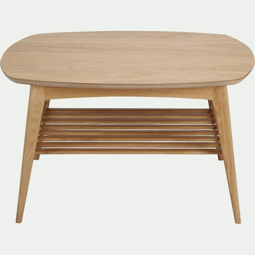 Table basse carrée plaquée chêne-MARGOTA