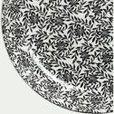 Assiette plate en porcelaine à motifs jasmin - gris - D26cm-AIX