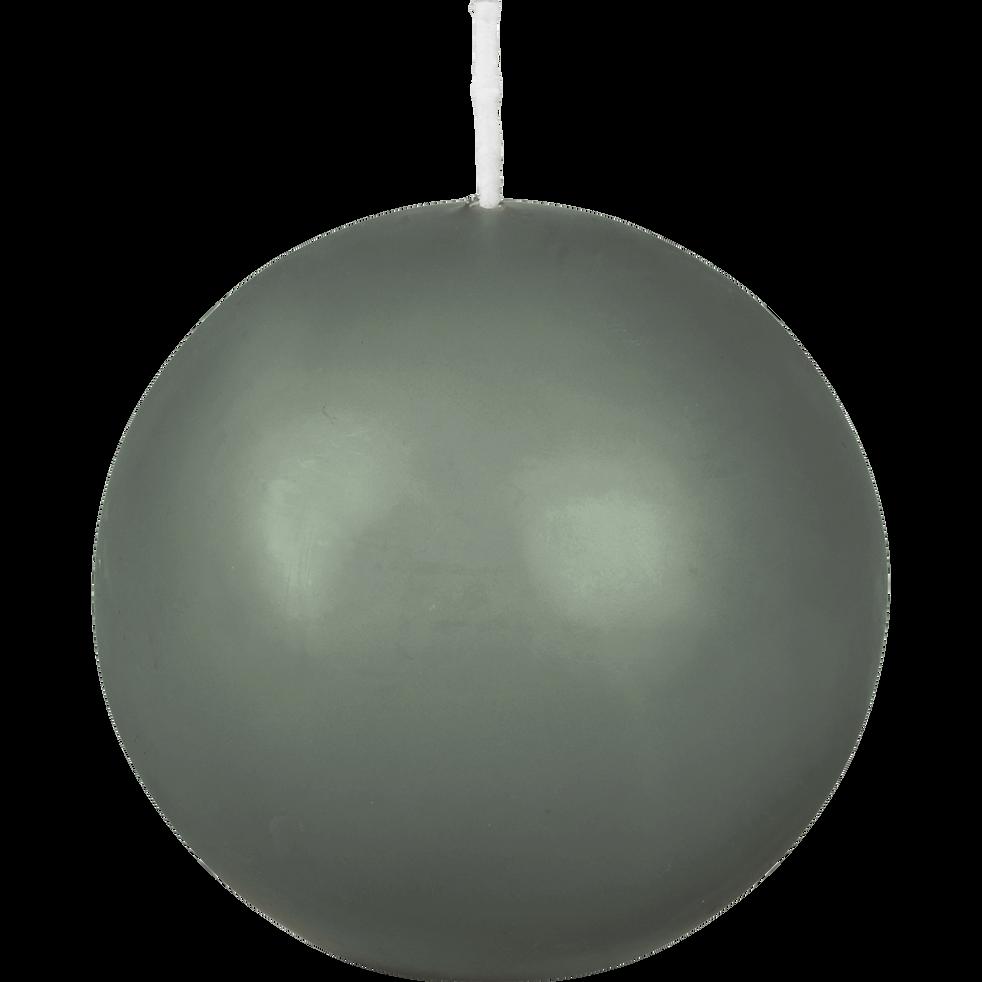 Bougie boule vert cèdre-HALBA