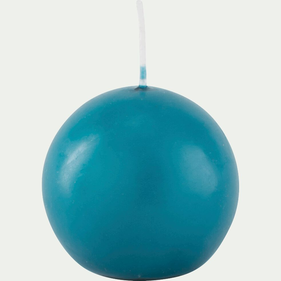 Bougie ronde bleu niolon D6cm-HALBA