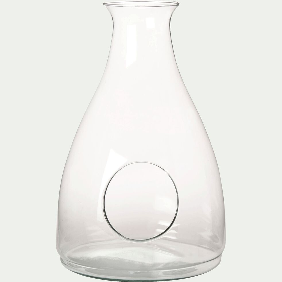 Cloche arrondie en verre transparent-Clay