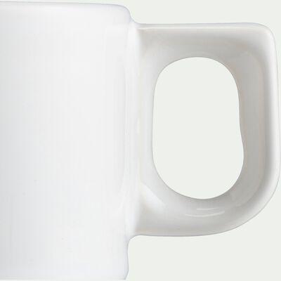 Tasse à café en faïence blanc ventoux 18cl-VADIM