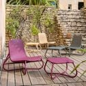 Table basse de jardin en rotin naturel vert cèdre-GERA
