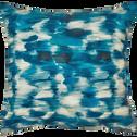 Coussin en coton à motifs bleu 40x40 cm-LATINA