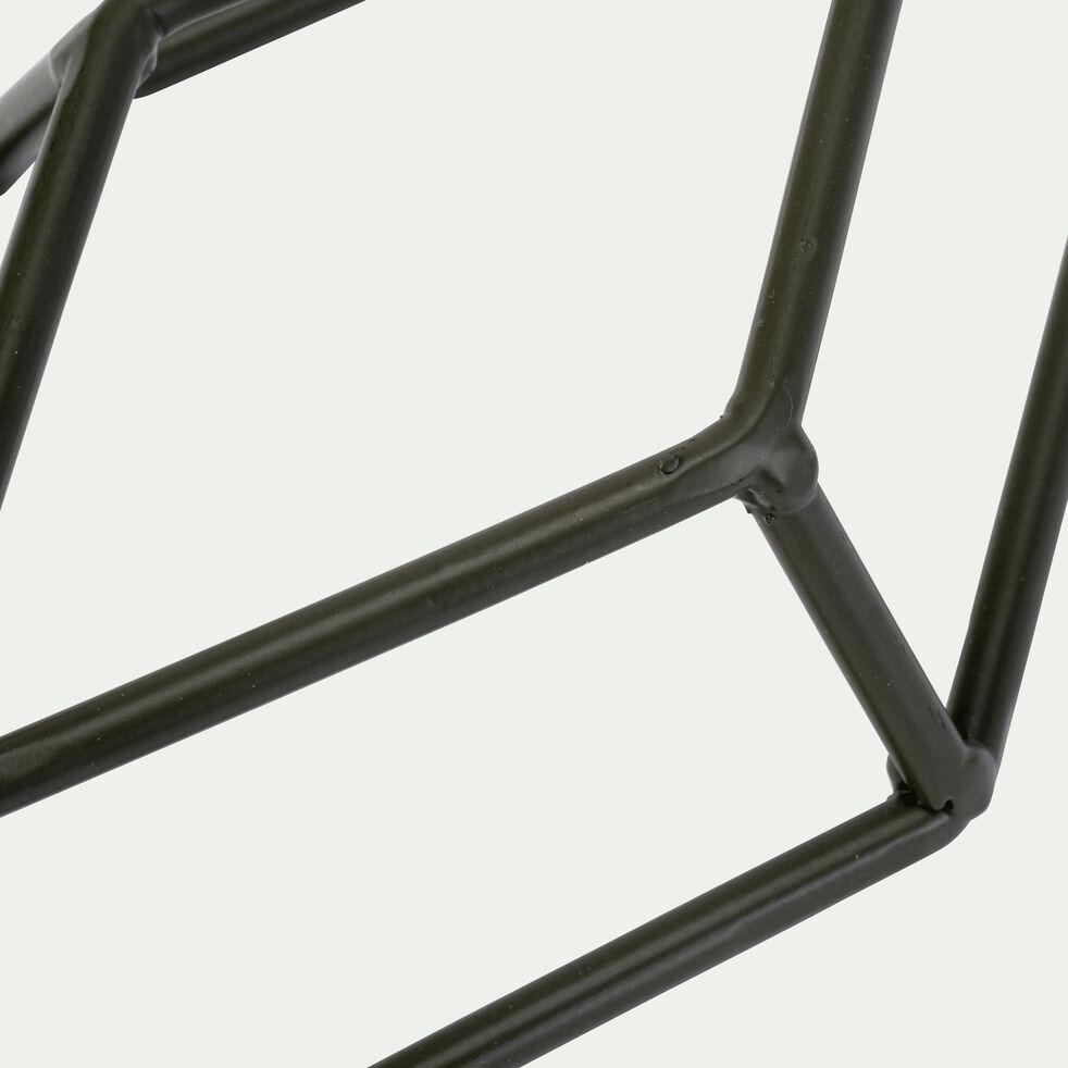 Patère losange en métal - vert H30cm-PACHA