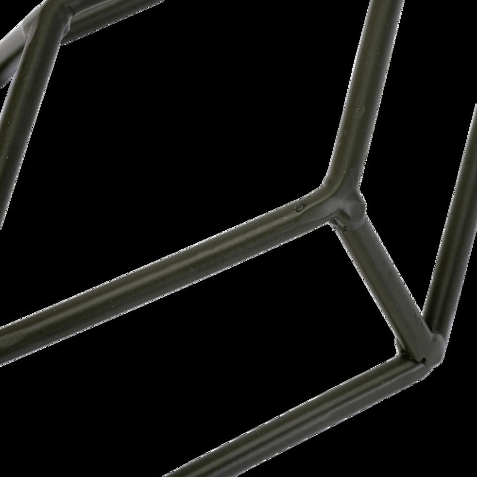 Patère en métal vert 1 emplacement L14xl5xH30cm-PACHA