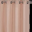 Rideau à oeillets en lin lavé rose argile 140x280cm-VENCE