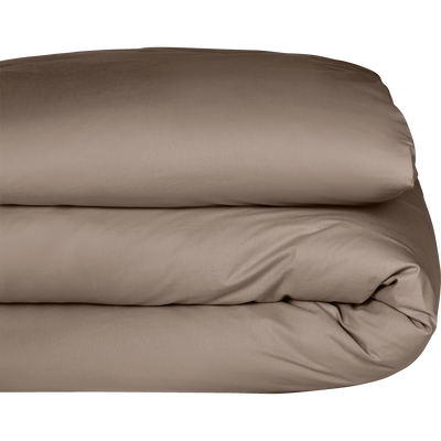 Housse de couette en coton brun châtaignier 140x200cm-CALANQUES