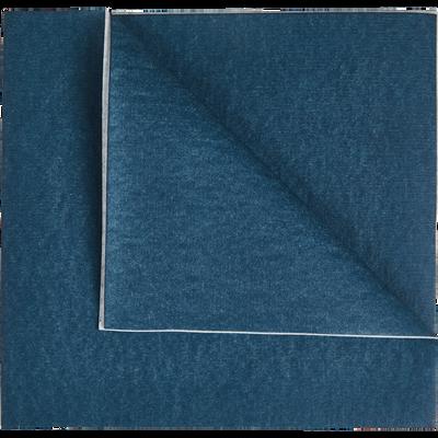 Lot de 20 serviettes intissé bleu figuerolles 40x40cm-SALERNE