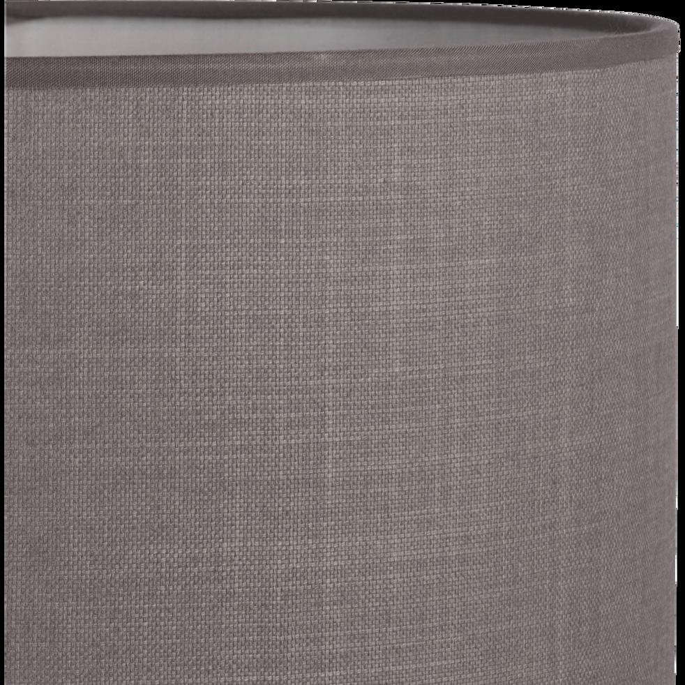 Suspension cylindrique en tissu gris D60cm-MISTRAL