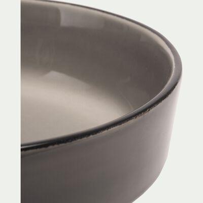 Saladier en faïence gris restanque D24cm-LANKA