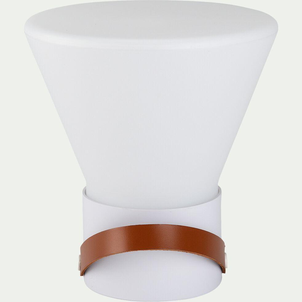 Lampe à poser d'extérieur - blanc H25cm-JOE