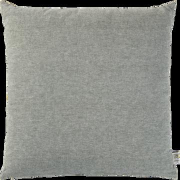 Coussin chambray vert cèdre 40x40cm-CORBIERE