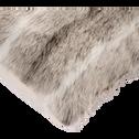 Coussin imitation fourrure beige 45x45cm-LOUP