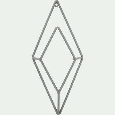 Patère losange en métal - gris H30cm-Pacha