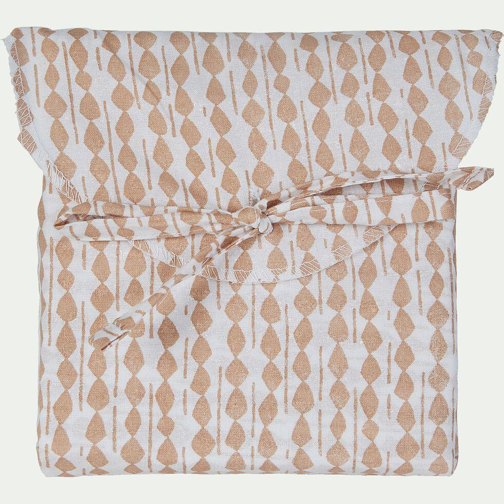 Lot de 2 taies d'oreiller en coton - beige 50x70cm-PISTOU