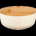 Saladier en fibre de bambou blanc D15,2cm-TREZ